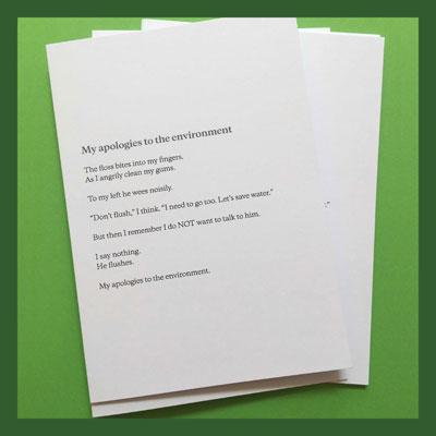 Poetry greetings cards